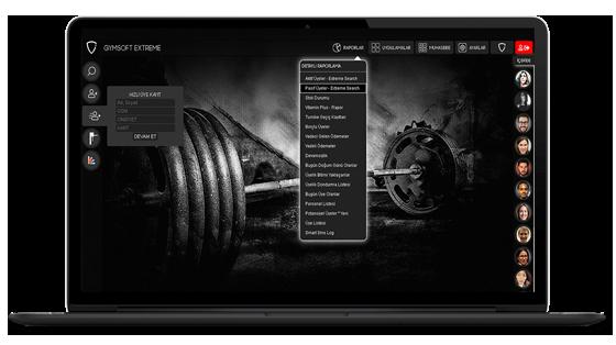 Gymsoft Extreme Spor salonu yazılımı